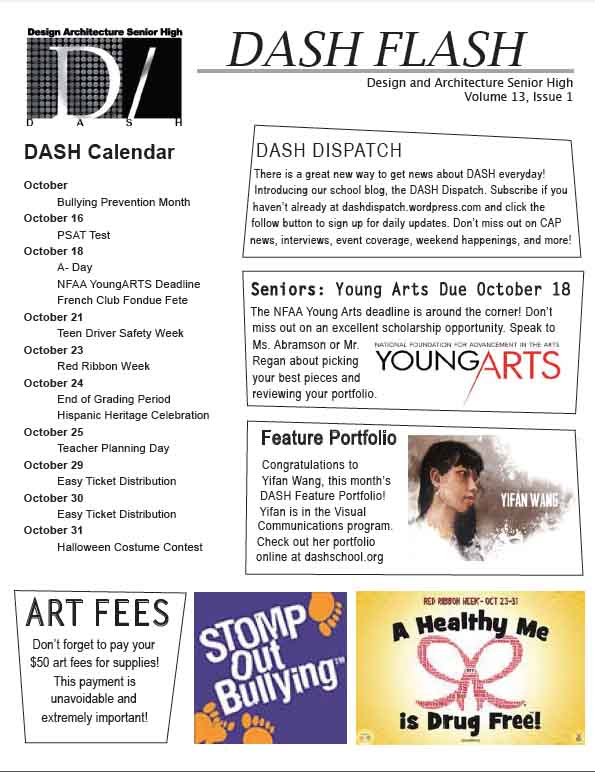 October 2013 DASH Flash - Front Page