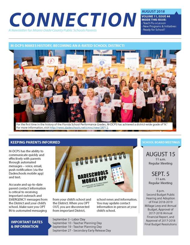 75749_August_2018_Connection_Parent_Newsletter_-_English_Page_1