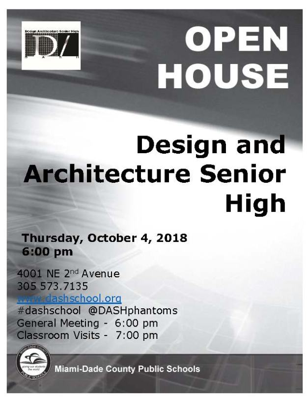 2018-2019 Open House Flyer
